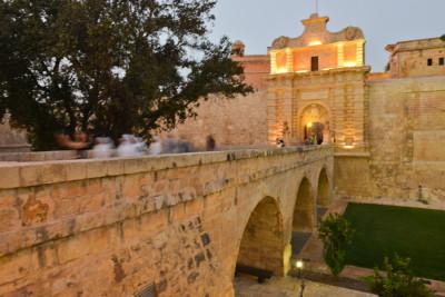 vstupní brána do středověkého města Mdina